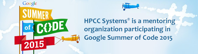 HPCC Systems is participating as a Mentoring Organization in GSoC 2015
