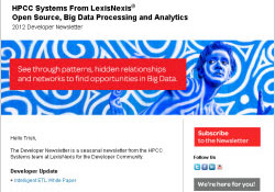 HPCC Systems 2012 Developer Newsletter