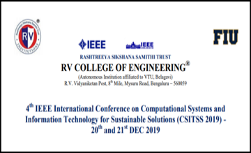 4th IEEE International Conference on CSITSS 2019
