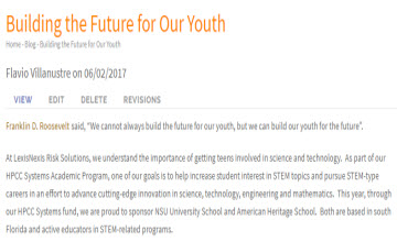 Building the Future for Our Youth