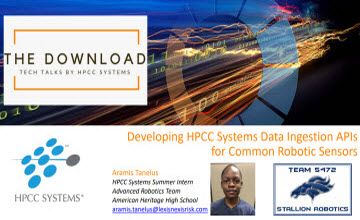 Developing HPCC Systems Data Ingestion APIs for Common Robotic Sensors