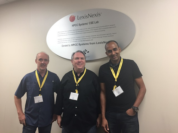 Hackathon mentors outside the HPCC Systems CSE lab at KSU