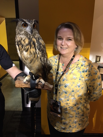 Lorraine Chapman and the Owls Mascot Sturgis