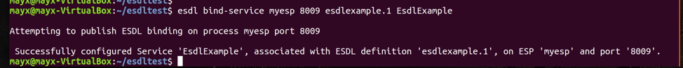 Bind Service ESDL Example