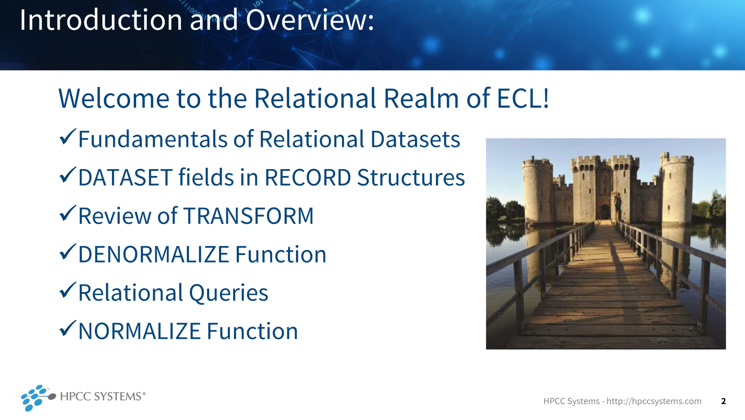 Image Showing the course outline for The Relational Realm