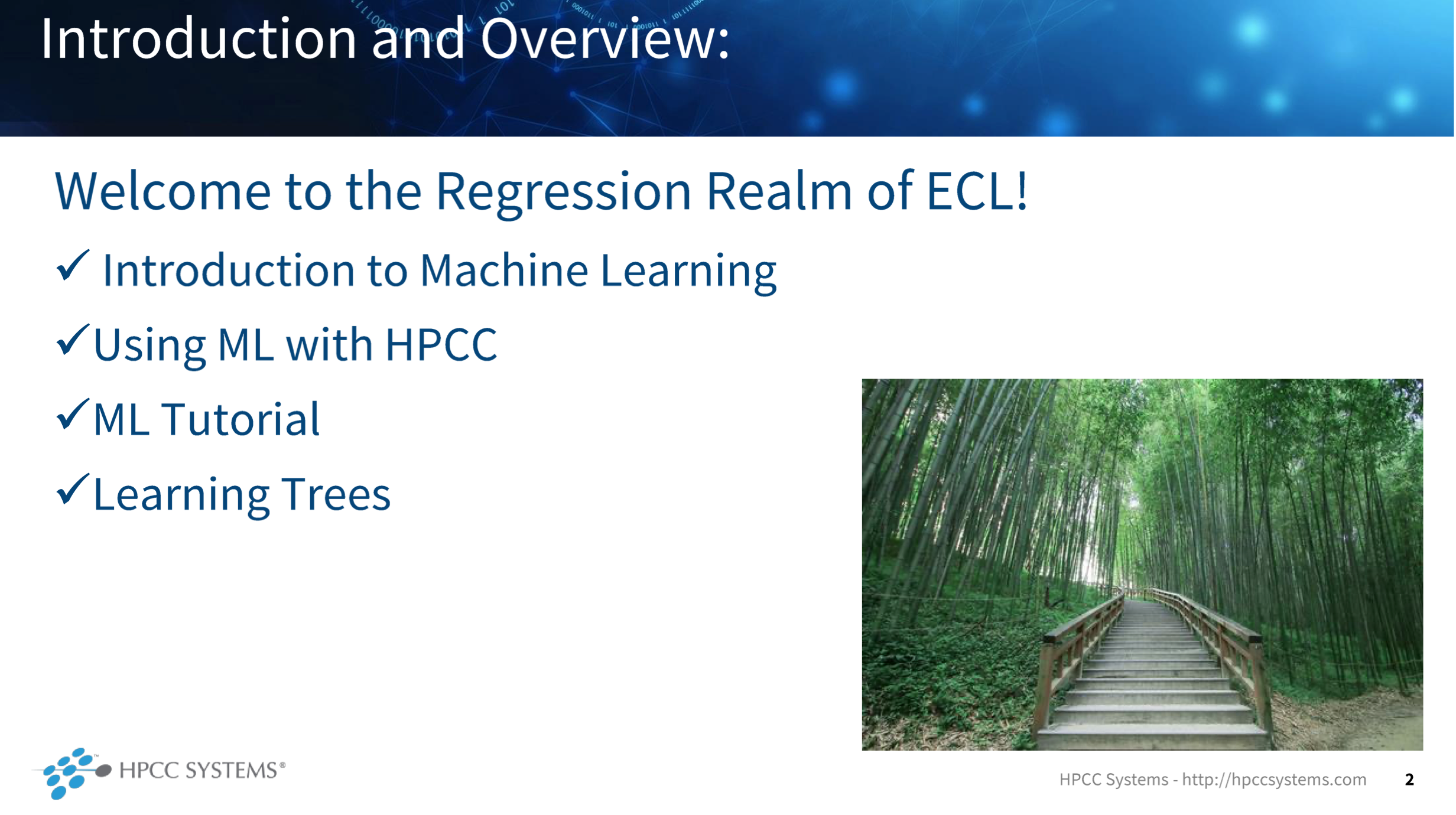 Image showing the course content for The Regression Realm
