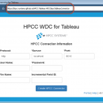 HPCC WDC for Tableau